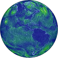 A global map of wind, weather and ocean conditions
